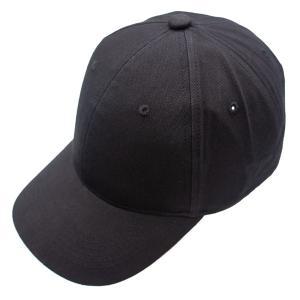 キャップ ブラック 帽子 黒 ベースボールキャップ 野球帽 シンプル アジャスター付き