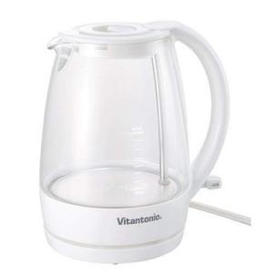 vitantonio ビタントニオ ガラスケトル ホワイト VEK-600-W 電気ケトル