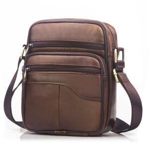 SPAHER(スバヒァ)男性用レザーバッグ ショルダーバッグ 財布バッグ メッセンジャーバッグ クロ...