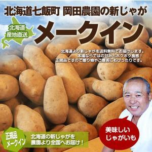 北海道産 メークイン (10kg/MLサイズ)/ じゃがいも 産地直送 低農薬 送料無料|okadanouen