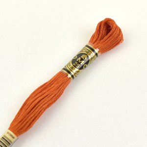 刺しゅう材料 DMC 刺繍糸 25番 色番720 (H)_5a_