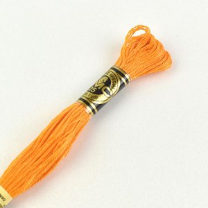 刺しゅう材料 DMC 刺繍糸 25番 色番741 (H)_5a_