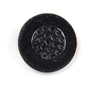 ベルベットクリスタルボタン(26-30) 23mm 黒 (H)_6a_ okadaya-ec