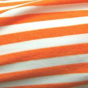生地 ニットパイルボーダー(132) 18.オレンジ (H)_at_|okadaya-ec