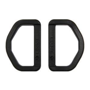 YKK プラスチックパーツ Dカン(LD30) 30mm幅テープ用 黒 2個入 (B)_4a_|okadaya-ec