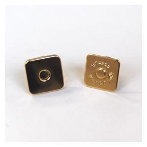四角マグネットボタン 差し込みタイプ(M4014) 18mm G.ゴールド (H)_6a_|okadaya-ec