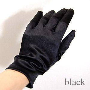 手袋 スパングローブ 21cm/Mサイズ ブラック (H)_3b_|okadaya-ec