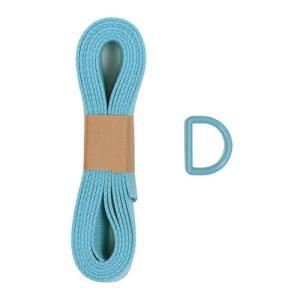 アクリルテープとDカンセット 2m巻/25mm幅(OKT-002) BL.ライトブルー (B)z4a_|okadaya-ec