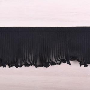プリーツフリルレース(AS7300) 約5cm幅 5.黒 (B)_4b_
