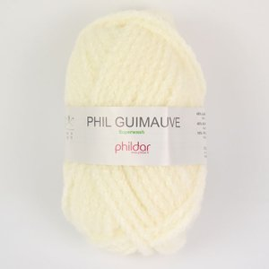 毛糸 Phildar-フィルダ―- GUIMAUVE-ギモーヴ ECRU.オフホワイト (M)_b1...
