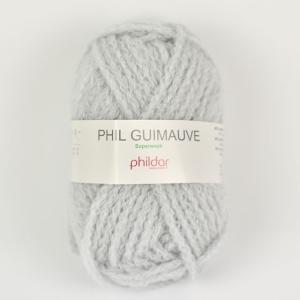 毛糸 Phildar-フィルダー- GUIMAUVE-ギモーヴ PERLE.ライトグレー (M)_b...