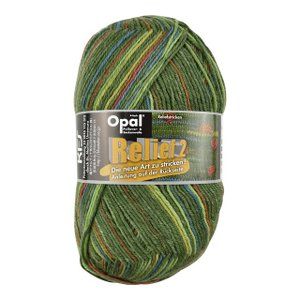毛糸 Opal-オパール- レリーフ2 Grun 9660.グリーン系マルチカラー (B)_5bj|okadaya-ec