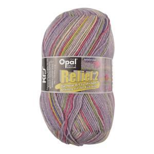 毛糸 Opal-オパール- レリーフ2 Flieder 9662.ライラック系マルチカラー (B)_5bj|okadaya-ec