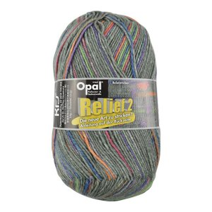 毛糸 Opal-オパール- レリーフ2 Grau 9665.グレー系マルチカラー (M)_5bj|okadaya-ec