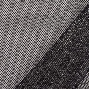 生地 ラメメッシュ(481) 9.黒×シルバー (H)_at_|okadaya-ec