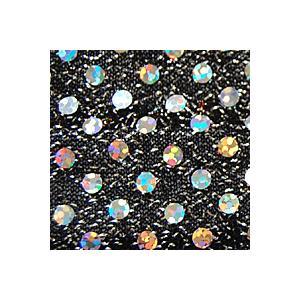 生地 スパンラメジャージミニ(818) 2.黒×シルバーホログラム (H)_at_|okadaya-ec