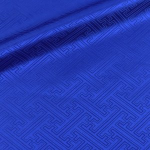 生地 ポリエステルジャガード(934)サヤ型 8.ロイヤルブルー (B)_at_|okadaya-ec