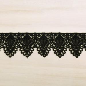 ケミカルレース(3556) 約4cm幅 10.黒 (B)_4b_|okadaya-ec