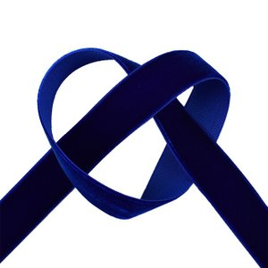 エリート片面ベルベットリボン(205) 19mm 78.ロイヤルブルー (B)_4b_|okadaya-ec