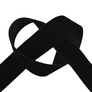 エリート片面ベルベットリボン(205) 25mm 5.ブラック (B)_4b_|okadaya-ec