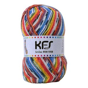 毛糸 Opal-オパール- 家族の笑顔 KFS117.子供たちの笑顔/レインボー系マルチカラー (B)_5bj|okadaya-ec
