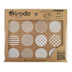 ファブリックステッカー irodo-イロド- パターンドット 90043.ホワイト (B)_ec_|okadaya-ec