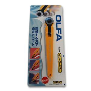 【商品の詳細】 刃を転がすだけで、生地がなめらかに切れる、OLFA(オルファ)のロータリーカッターで...