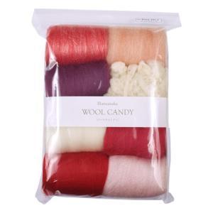 フェルト羊毛 ハマナカ ウールキャンディ 8色セット(H441-121) 1.ジュエルピンク (H)_5b_|okadaya-ec