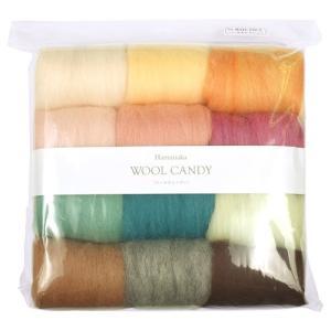 フェルト羊毛 ハマナカ ウールキャンディ 12色セット(H441-122) 2.ペールセレクション (H)_5b_|okadaya-ec
