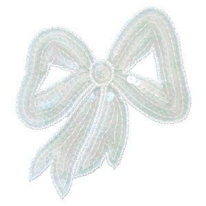 スパンコールモチーフ リボン型(M283) 縫い付けタイプ 11.オーロラ (H)_4b_|okadaya-ec
