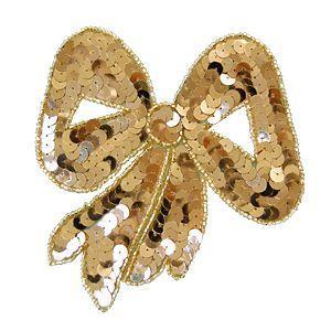 スパンコールモチーフ リボン型(M283) 縫い付けタイプ 41.ゴールド (H)_4b_|okadaya-ec