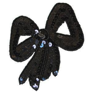スパンコールモチーフ リボン型(M283) 縫い付けタイプ 42.ブラック (H)_4b_|okadaya-ec