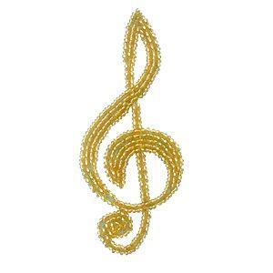 ビーズモチーフ ト音記号(M431) 縫い付けタイプ 41.ゴールド (H)_4b_|okadaya-ec