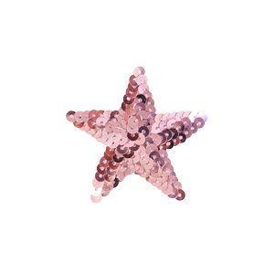 スパンコールモチーフ 星型 小(M867) アイロン接着 31.ピンク (H)_4b_|okadaya-ec