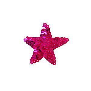 スパンコールモチーフ 星型 小(M867) アイロン接着 37.フクシア (H)_4b_|okadaya-ec