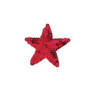 スパンコールモチーフ 星型 小(M867) アイロン接着 39.レッド (H)_4b_|okadaya-ec