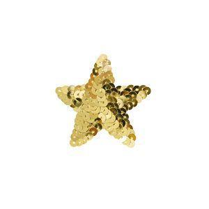 スパンコールモチーフ 星型 小(M867) アイロン接着 41.ゴールド (H)_4b_|okadaya-ec