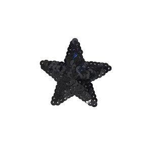 スパンコールモチーフ 星型 小(M867) アイロン接着 42.ブラック (H)_4b_|okadaya-ec