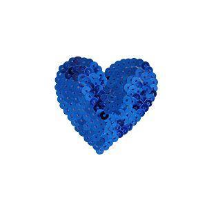 スパンコールモチーフ ハート型 小(M869) アイロン接着 34.ブルー (H)_4b_|okadaya-ec