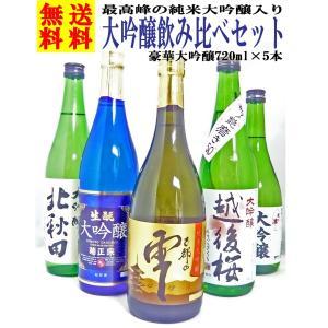 日本酒 純米大吟醸 が入った 大吟醸 飲み比べ セット 72...