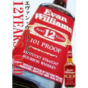 エヴァン・ウィリアムス 12年 赤ラベル 50.5度 正規品 750ml  12 YEARS OLD バーボン|okadayasaketen