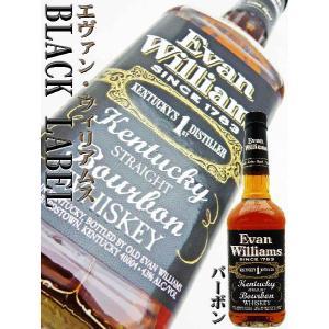 エヴァン・ウィリアムス ブラックラベル 43度 正規品 750ml  BLACK LABEL バーボン|okadayasaketen