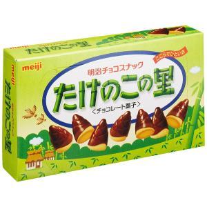 たけのこの形をパロディー化したロングセラーチョコスナック。チョコレートとクッキーの絶妙な組み合わせ。