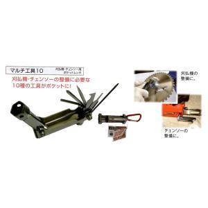 マルチ工具10 (草刈機・チェーンソー用ボルトレンチ)刈払機・チェンソーの整備|okaidoku-kiyosi