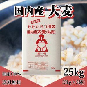もっちもち大麦 25kg (5kg×5袋) 令和元年岡山県産|okaman