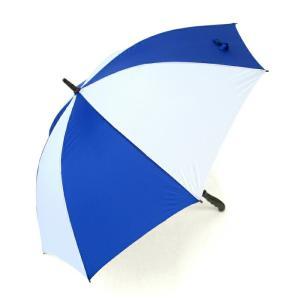 傘 メンズ ゴルフ傘 レジャーに最適 青白ツートンカラー65cm手開き|okamoto-kasa