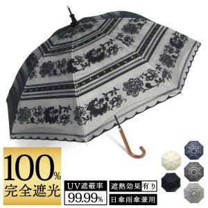 完全遮光 日傘 遮光率100% UV遮蔽率99.99% 傘本体 遮光率99.99% レディース 1級遮光 紫外線カット パゴダ サラサボーダー柄 レース二重張 50cm 手開 送料無料|okamoto-kasa