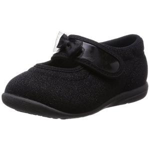 ASAHI アサヒ アサヒ健康くん B03-JP ブラック 日本製 アサヒシューズ キュートなリボン付き ベビー  子供靴 okamotoya
