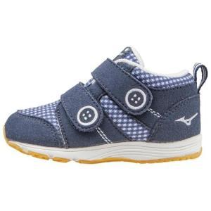 店頭展示品在庫処分 MIZUNO ミズノ ハグモックインファント ネイビー×ホワイト キッズ  子供靴 okamotoya