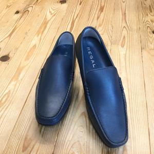 REGAL リーガル 56hr 56hraf スリッポン ネイビー ロングノーズラストのヴァンプ メンズ 靴|okamotoya